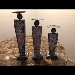 Distressed candle holders